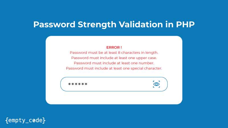 Password Strength Validation in PHP