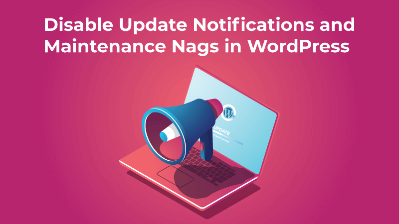 Disable Update Notifications and Maintenance Nags in WordPress