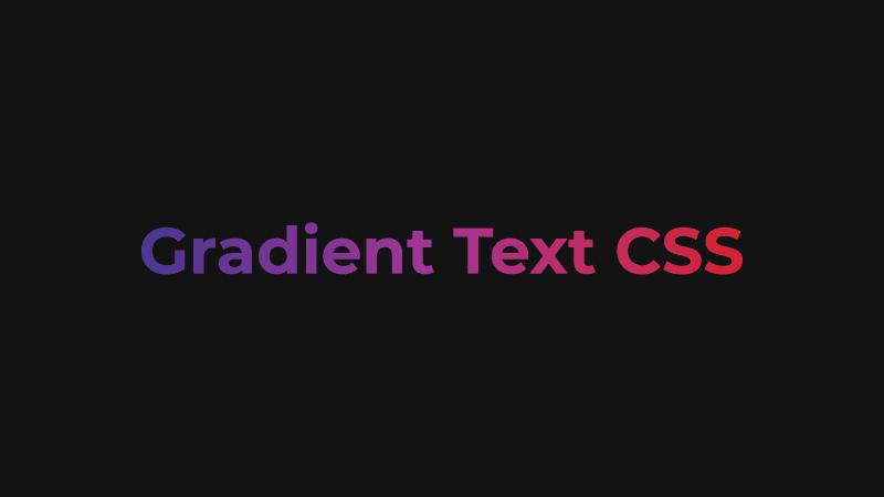 Gradient Text CSS